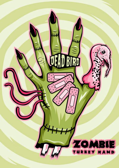 Zombie Turkey Hand Anne Cobai Illustration Amp Design