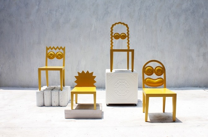 Caricature as Furniture by 56th Studio in thisispaper.com