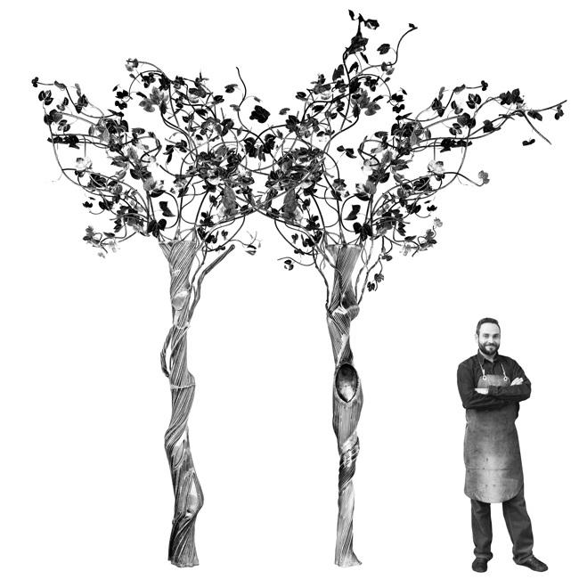 scultura albero in ferro battuto - lafucinadiefesto.com